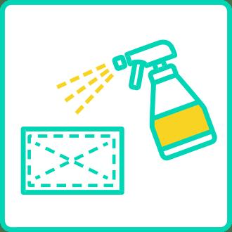 店内の徹底的な除菌清掃